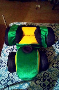 Green And Yellow Toy Car