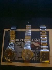 two round gold-colored analog watches New York, 10002