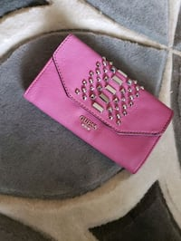pink and black Coach leather wallet Edmonton, T6K