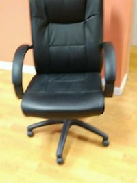 black leather office rolling armchair Largo, 33771