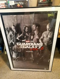 Guardians of. the Galaxy poster framed