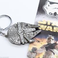New Star Wars Millennium Falcon Metal Keychain Calgary