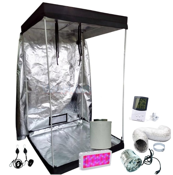 4x4 Grow tent full kit with 1500w full spec led and ventilation, everything  in photo