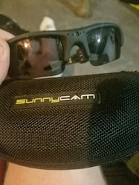 black Sunnycam sport sunglasses with case Cromwell, 46732