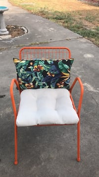 white, red, and green floral fabric armchair San Angelo, 76903
