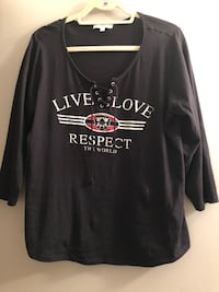 Large 'MyStyle' black top 100% cotton Located Millwoods/south side Edmonton, T6L 6P5