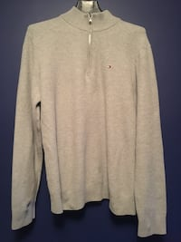 Tommy Quarter zip sweater grey Hamilton, L8S 3X4