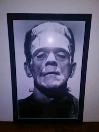 Frankenstein Classic Black in White Photo with Mat Culver City, 90230