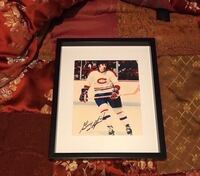 Montreal Canadiens Guy Lapointe Signed and framed photo  Châteauguay, J6K 2M7