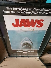 Jaws framed poster  New Westminster