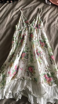 white, pink, and green floral sleeveless dress Edmonton, T6L 7E1