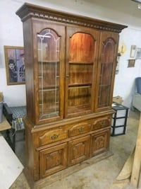 brown wooden china cabinet Sparta, 38583