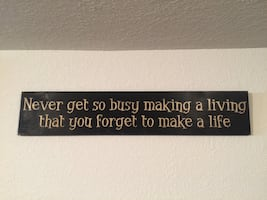 """Home Wall Art - Distressed Wood Inspirational Picture  36""""L x 7"""" W"""