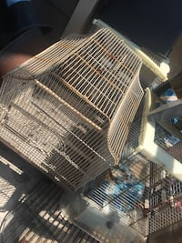 two white and blue metal pet cages Halifax, B3L 0B1