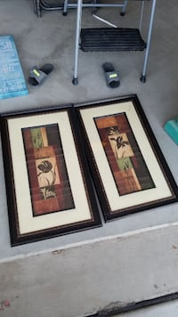 three brown wooden framed paintings Tulare, 93274