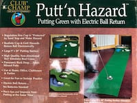 Golf putting green with electric ball return.   Pittsford, 14534