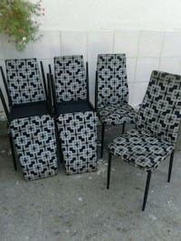 four black-and-white padded chairs Mississauga, L4W 3J7