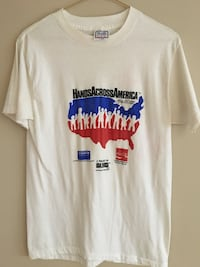Vintage 1986 hands across America t-shirt Women's Large Chicago, 60610
