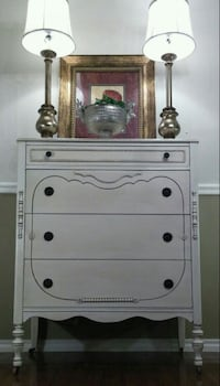 BEAUTIFUL ANTIQUE IVORY dresser / chest of drawers Blue Mound, 76131