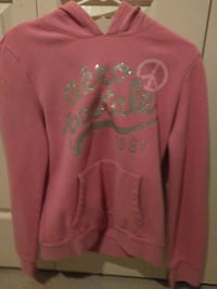 pink and silver Aeropostale pullover hoodie