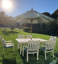 White and gray patio table set Hingham, 02043