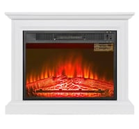 Wooden Mantel Electric Fireplace Laurel