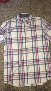 Men's white, pink, and black button-up shirt Costa Mesa, 92627
