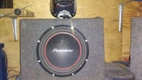 black and red Pioneer subwoofer12 inch Claxton, 30417
