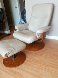white and brown leather rolling armchair Edmonton, T5P 4V4