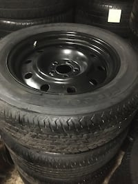 firestone all weather rubber tires 215-65-17 with steel rims Edmonton, T5T 3G1