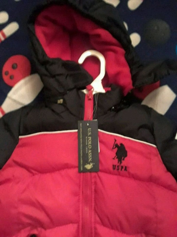 black and red  zip-up coat