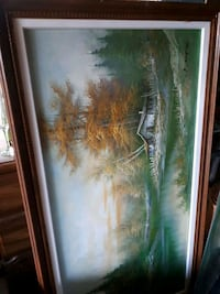 Large painting Rocky Point, C0A 1H2