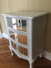 white wooden 2-drawer nightstand Seaford