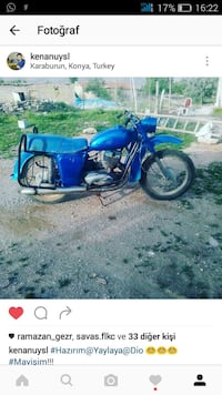 Blue standard motorcycle