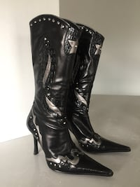 Stiletto boots -leather, size 6 (36) Mississauga, L4Y 2A5