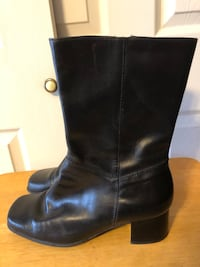 Easy Spirit Glorielat Women's Size 9 Black Leather Boots  Baltimore, 21236