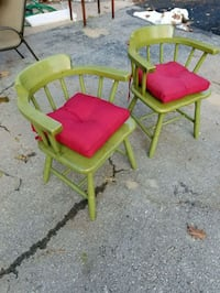 Solid Chairs w cushions( both)