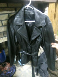 Wilsons XL leather black jacket with belt Loganville, 30052