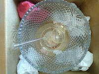 Lead Crystal punch bowl and cups