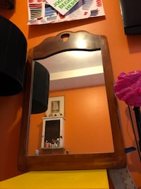 brown wooden framed wall mirror New York, 11206