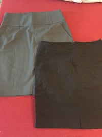two women's black and gray pencil skirts size 10 Vancouver, V6P 4M9