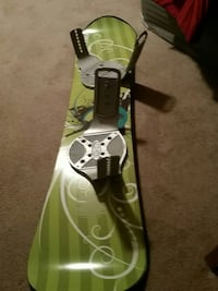 Green and black snowboard