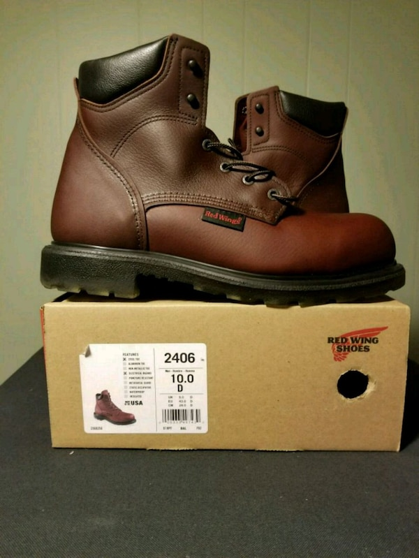 Boots- Red Wing 2406 size 10D steel toe
