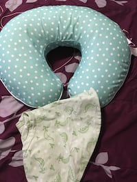 Baby's white and green nursing pillow District Heights, 20747