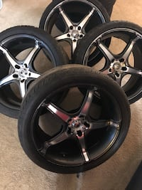 "19"" Konig Rims 5x114 bolt pattern 61 km"