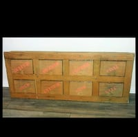 Vintage antique apotecary solid wood cabinet Gatineau