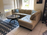 Real Leather Couch in Good Condition