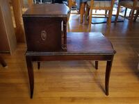 Antique end table with two levels