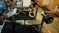 Tow workout bench with 190 pounds on weight  West Dundee, 60118