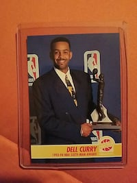 Dell Curry trading card